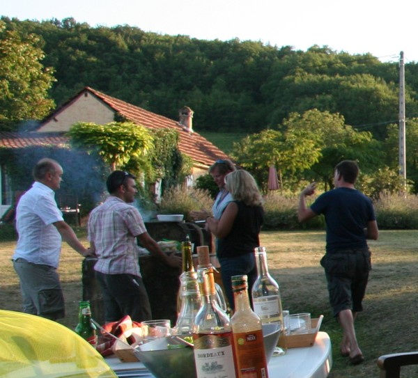 a joint BBq at our Dordogne holiday cottages