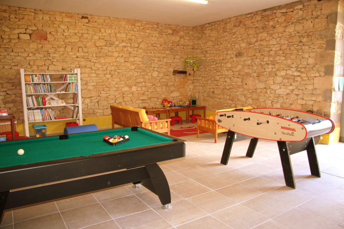 gamesroom at our dordogne gites