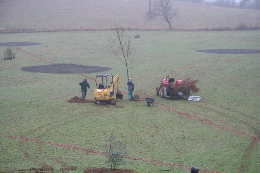 planting the golf course at our Dordogne Gites