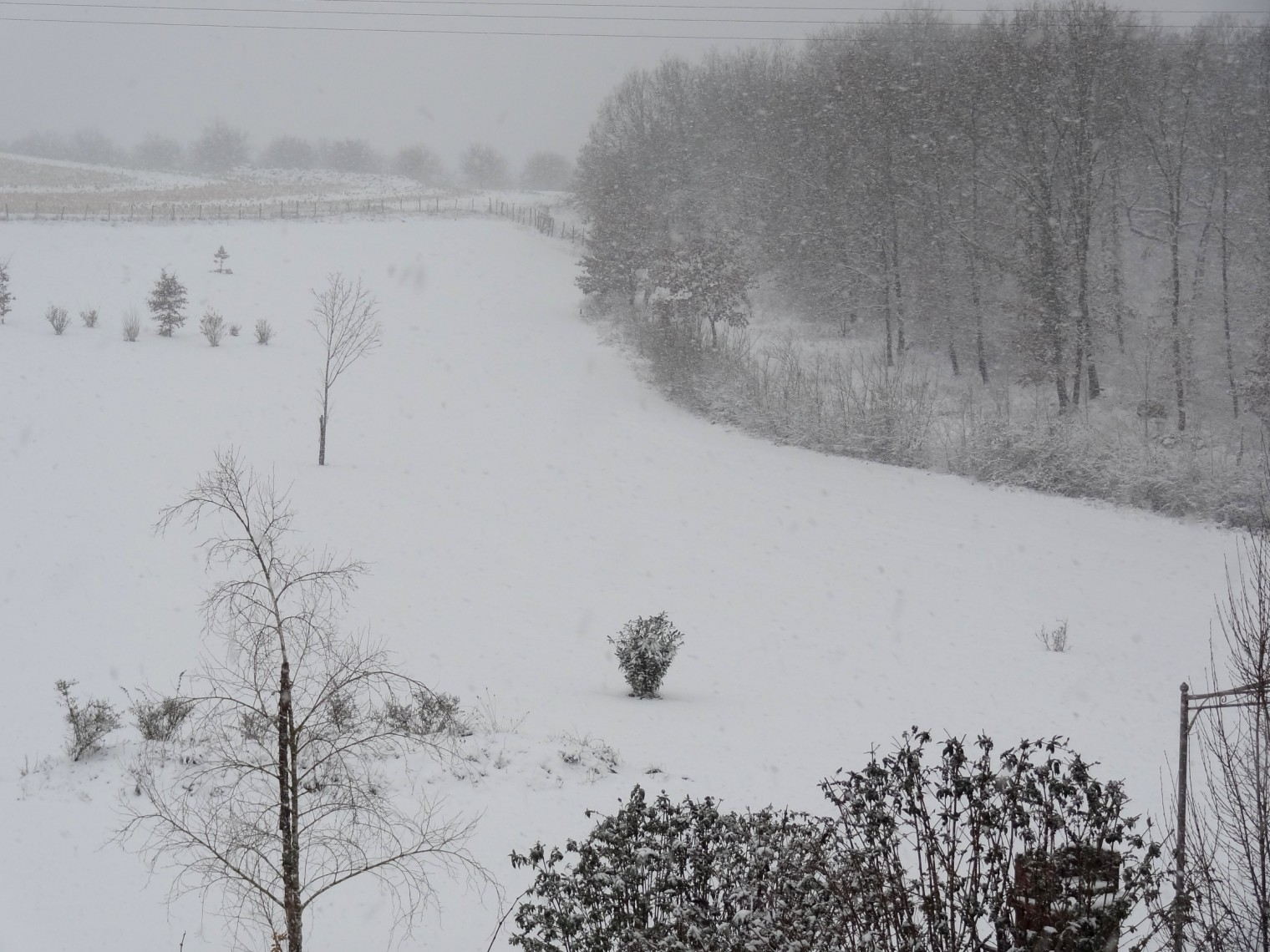 snowing in France at our holiday cottages