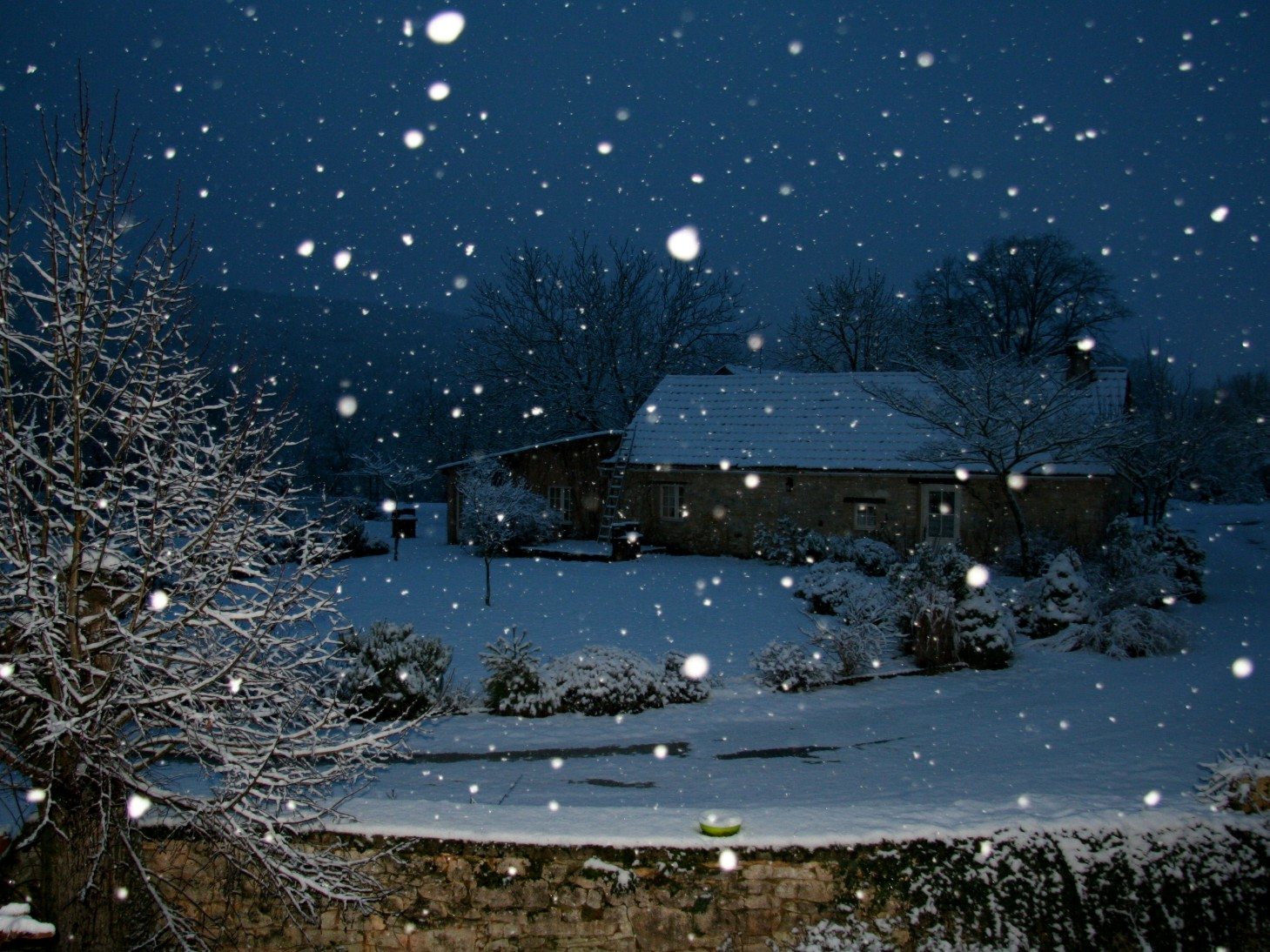 Season's first snow at our Dordogne Holiday Cottages