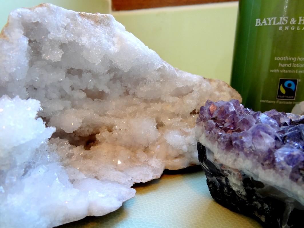 amethyst & semi precious rocks