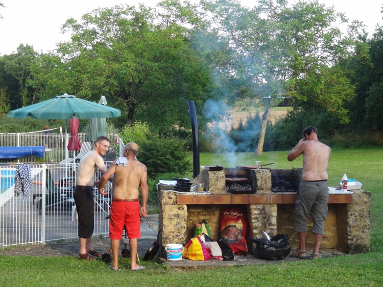 BBQ at our dordogne gites
