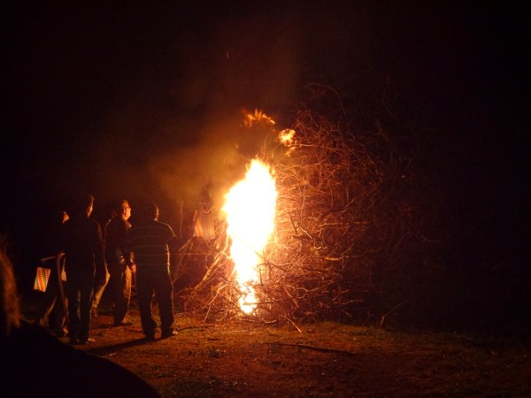 bonfire at Jayac
