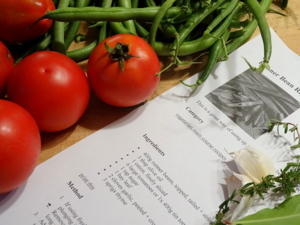 recipe for Green bean rataouille
