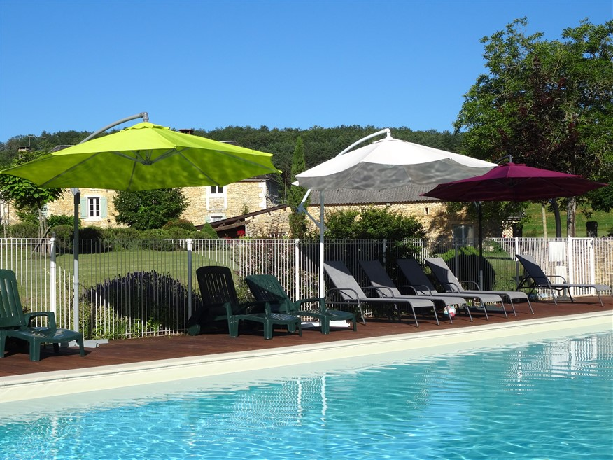 gites with heated pool france