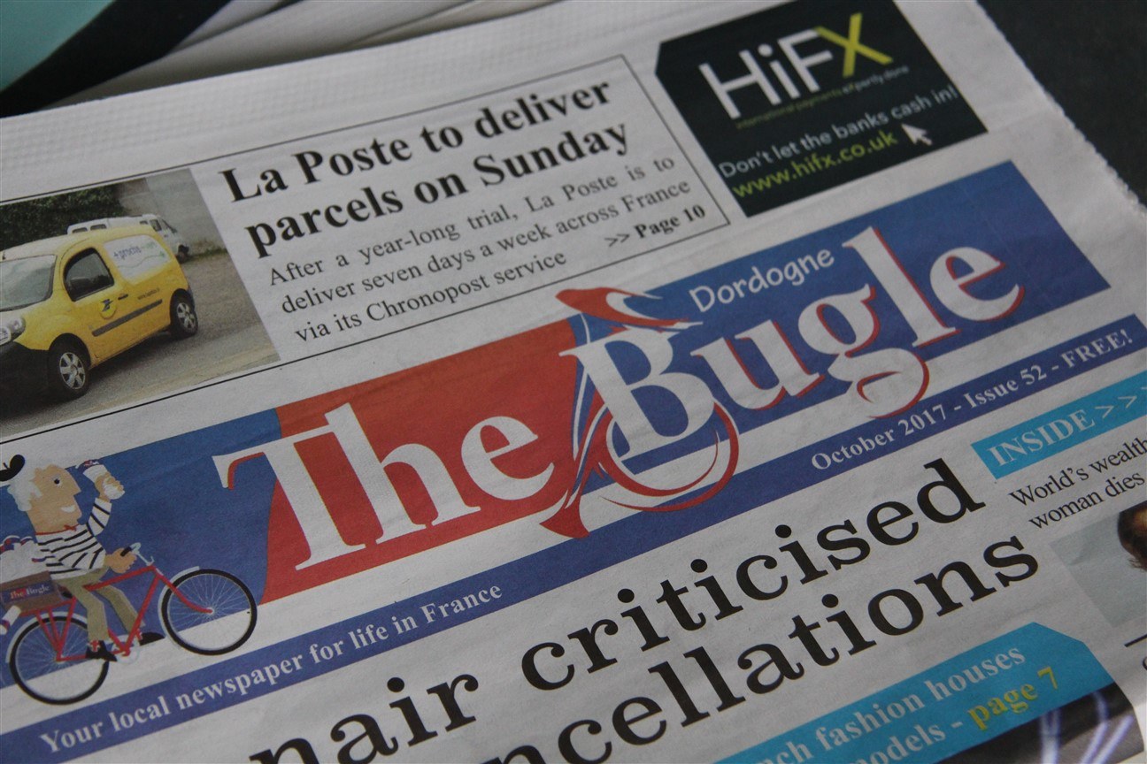 The Bugle, monthly free local newspaper available at our dordogne holiday cottages
